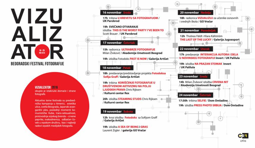 "Program Festivala fotografije ""Vizualizator"" 2016"